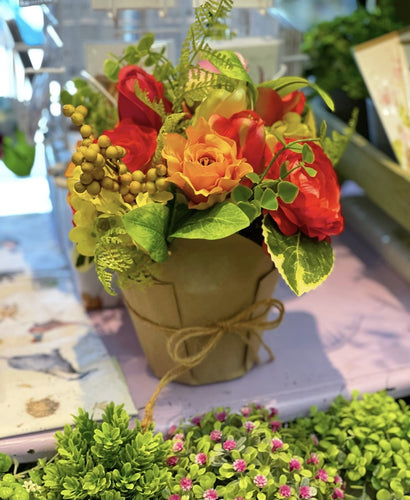 Potted Flowers wrapped in Kraft paper - Lemon And Lavender Toronto