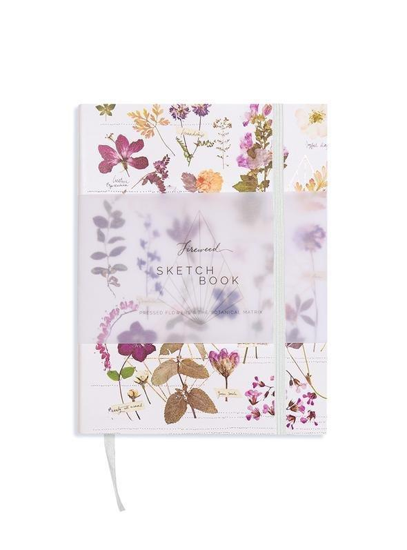 Pressed Florals Sketch Book - Lemon And Lavender Toronto