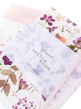 Load image into Gallery viewer, Pressed Florals Sketch Book - Lemon And Lavender Toronto