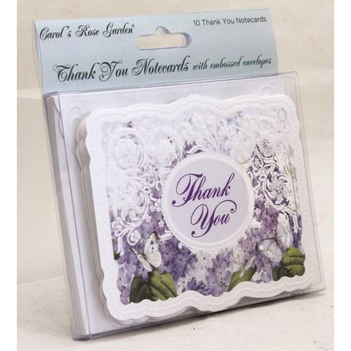 Purple Butterfly - 10 pk Thank You Cards - Lemon And Lavender Toronto