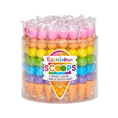 Rainbow Scoops Stacking Erasable Crayons- OOLY - Lemon And Lavender Toronto