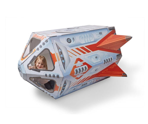 Rocket Ship Indoor Playhouse - Lemon And Lavender Toronto
