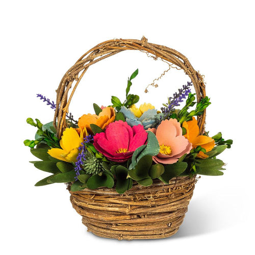 Rustic Flower Basket - 9