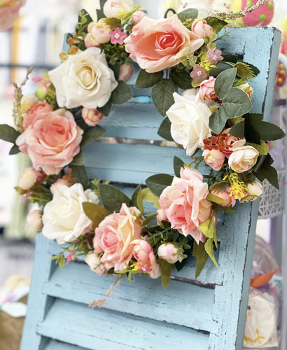 Shabby Chic Pink Roses Wreath 🌹 - Lemon And Lavender Toronto