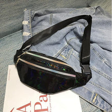 Load image into Gallery viewer, Shiny Back Holographic Fanny Pack - Lemon And Lavender Toronto