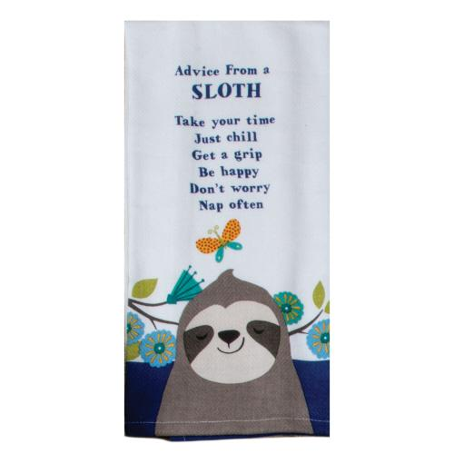 Sloth Advice - Tea Towel - Lemon And Lavender Toronto