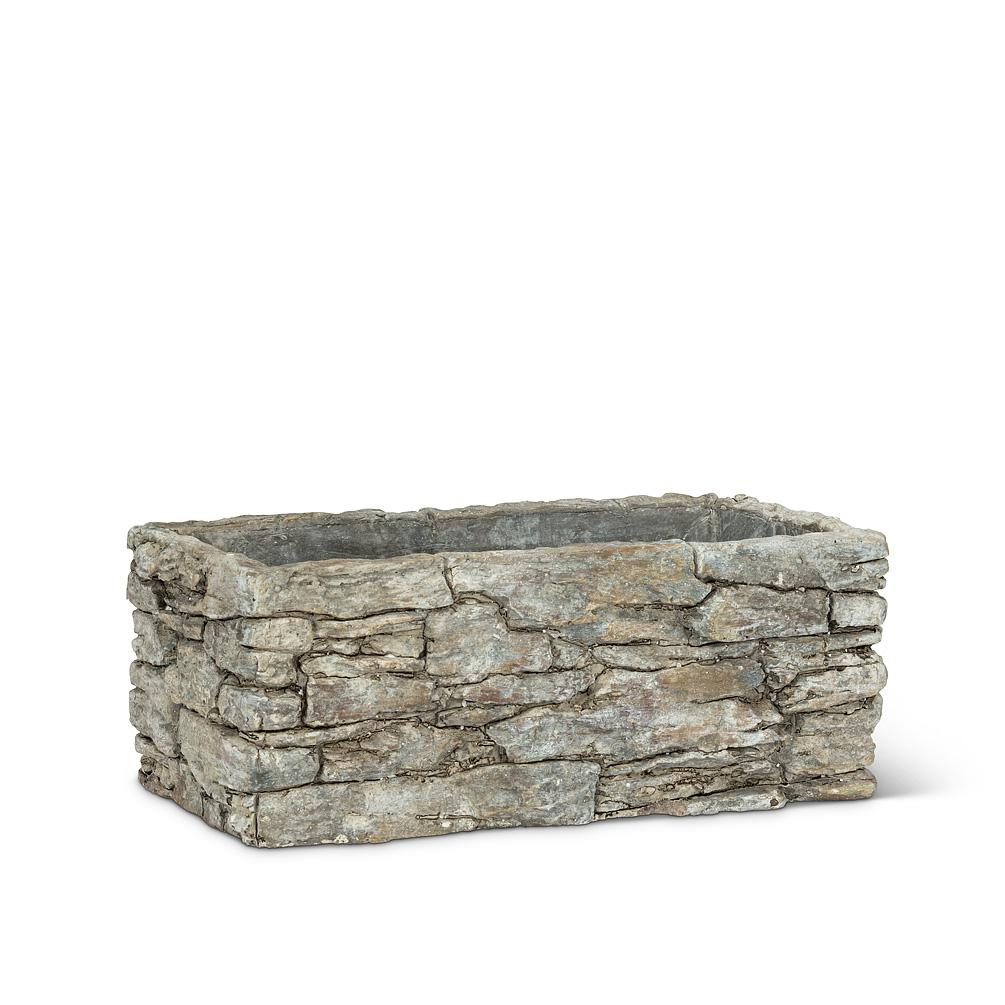 Small Rectangle Stack Stone Planter - Lemon And Lavender Toronto