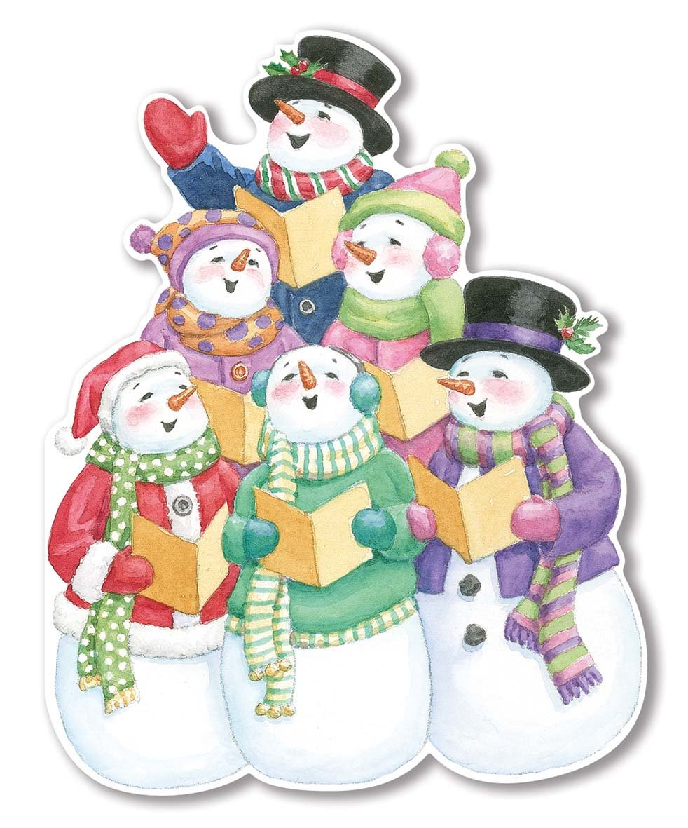 Snowmen Caroling - Gift Tag Pack of 6 - Lemon And Lavender Toronto