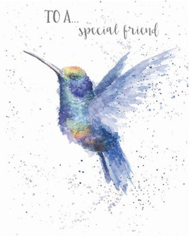 Special Friend Hummingbird Card - Lemon And Lavender Toronto