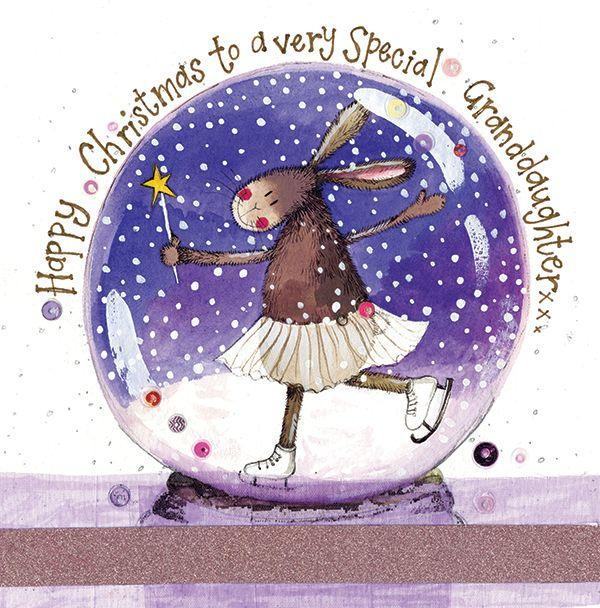 Special Granddaughter - Alex Clarke Christmas Card - Lemon And Lavender Toronto