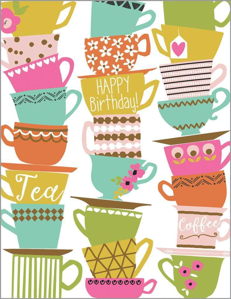 Teacup Birthday Card - Lemon And Lavender Toronto