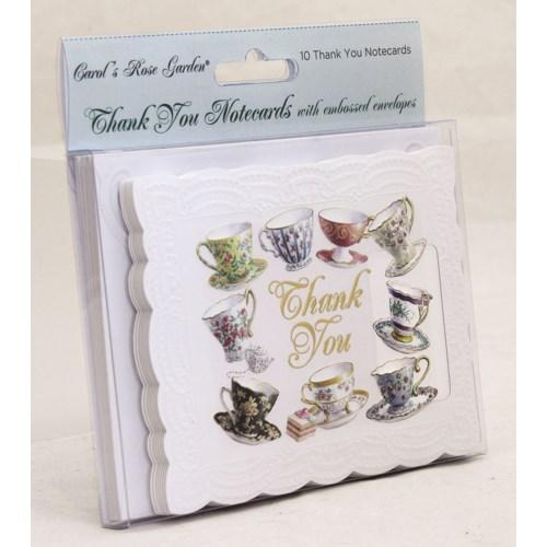 Teacups - 10 pk Thank You Cards - Lemon And Lavender Toronto