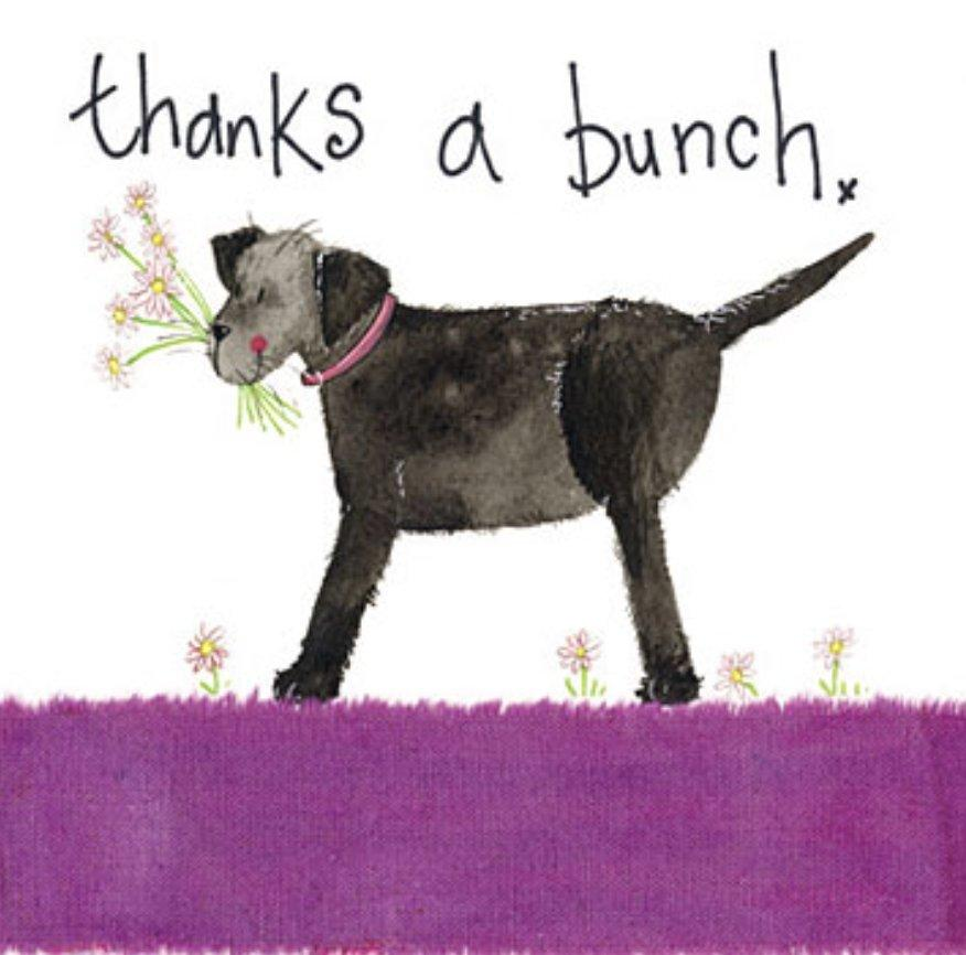 Thanks a Bunch Thank You Card - Lemon And Lavender Toronto