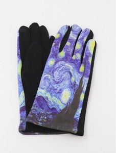 """The Starry Night"" Touch Screen Gloves - Lemon And Lavender Toronto"