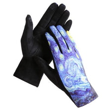 "Load image into Gallery viewer, ""The Starry Night"" Touch Screen Gloves - Lemon And Lavender Toronto"