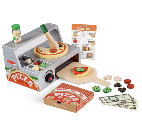 Top & Bake Pizza Counter - Wooden Play Food - Lemon And Lavender Toronto