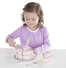 Load image into Gallery viewer, Triple-Layer Party Cake - Wooden Play Food - Lemon And Lavender Toronto