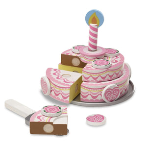 Triple-Layer Party Cake - Wooden Play Food - Lemon And Lavender Toronto