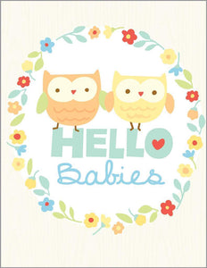 Twins New Baby Greeting Card - Lemon And Lavender Toronto