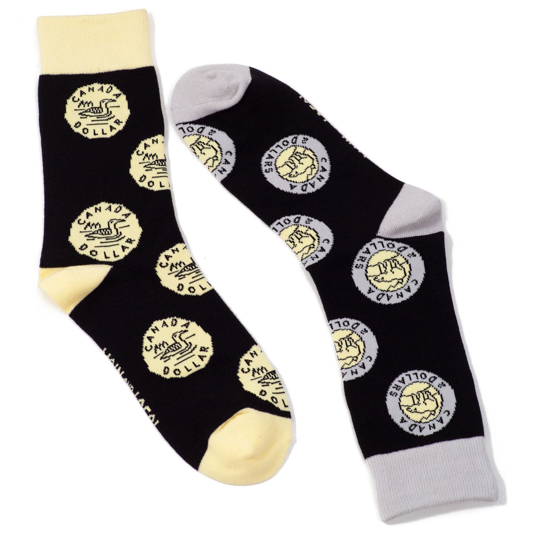 Unisex - Canadian Coin Socks - Lemon And Lavender Toronto