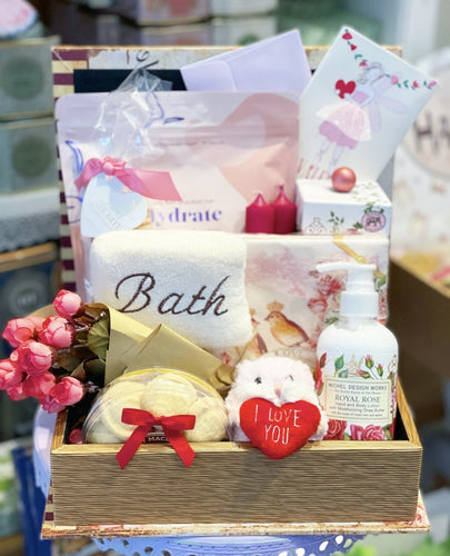 Valentines Relaxation Self Care Basket - Lemon And Lavender Toronto