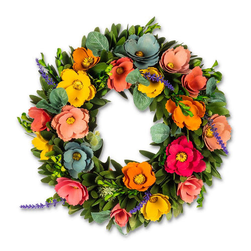 Vibrant and Colourful Floral Wreath 13