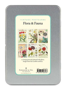 "Vintage Postcards "" Floral & Fauna"" - Cavallini - Lemon And Lavender Toronto"