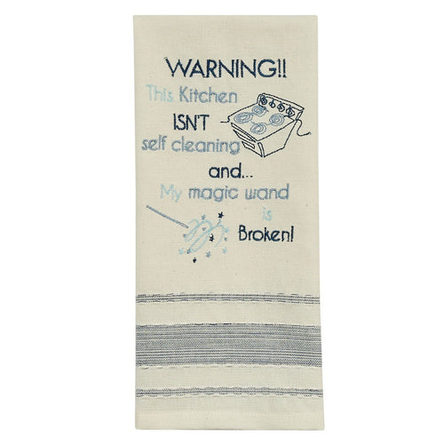 Warning Kitchen Cleaning Tea Towel - Lemon And Lavender Toronto