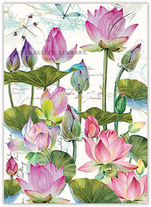 Water Lilies Kitchen Towel - Lemon And Lavender Toronto