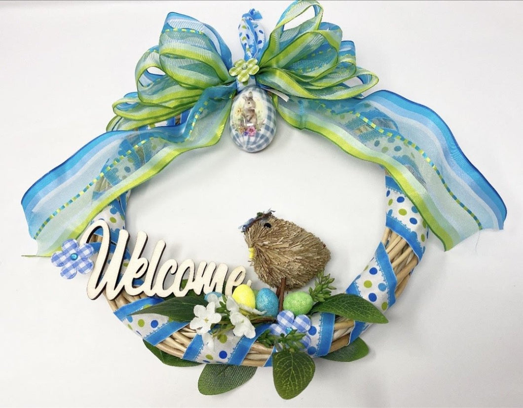 Welcome Bird Wreath - Lemon And Lavender Toronto