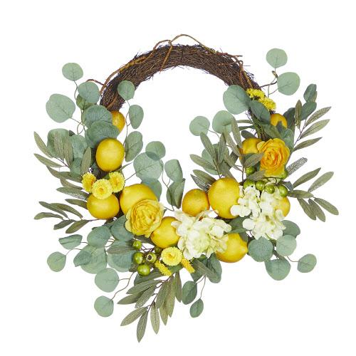 Whimsical Mixed Lemon Wreath - Lemon And Lavender Toronto