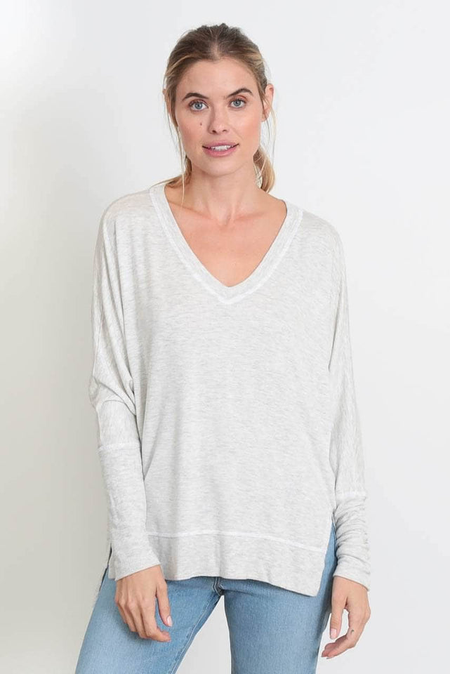 Relaxed V-Neck Sweater - The Carrie