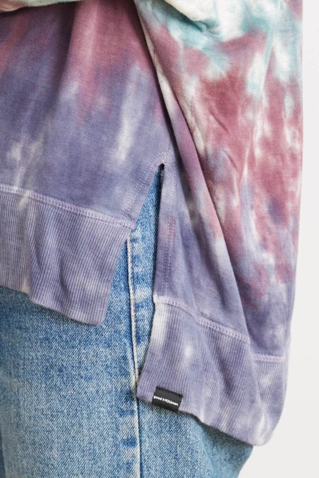 Tie-Dye Relaxed V-Neck Sweater - The Carrie