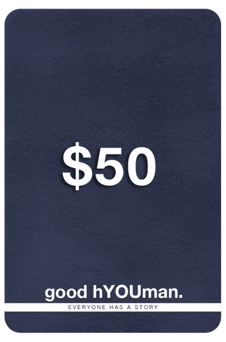 good hYOUman Gift Card - $50