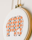 Elephant Cross Stitch Pattern - Digital Download