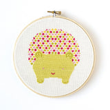 Hedgehog Cross Stitch Pattern - Digital Download