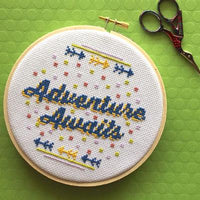 Adventure Awaits Cross Stitch Pattern - Digital Download