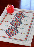Etruscan Diamonds Table Mat Cross Stitch Pattern - Digital Download