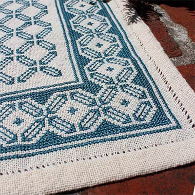 Aegean Octagon Table Mat Cross Stitch Pattern - Digital Download