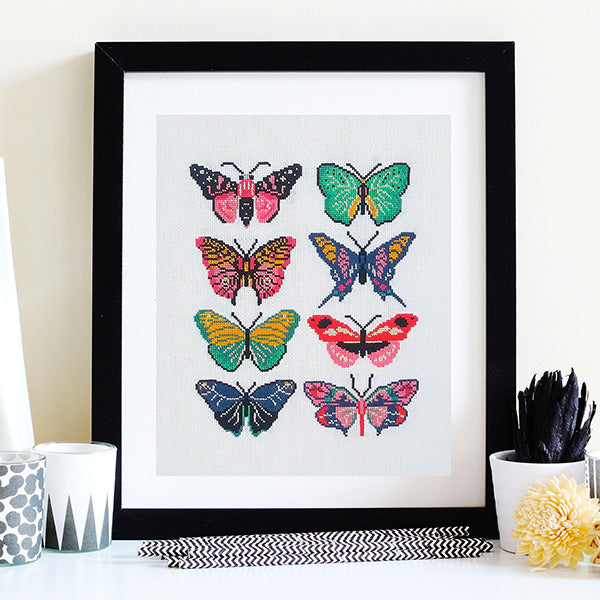Butterflies Cross Stitch Pattern - Digital Download