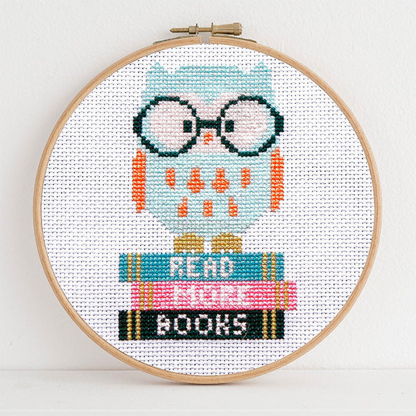 Wise Owl Cross Stitch Pattern - Digital Download