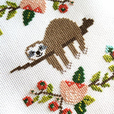 Lazy Day Sloth Cross Stitch Pattern - Digital Download