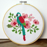 Parrot Cross Stitch Pattern - Digital Download