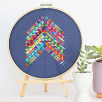 Mexico Abstract Cross Stitch Pattern - Digital Download