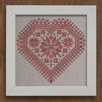 Nordic Heart Cross Stitch Pattern - Digital Download
