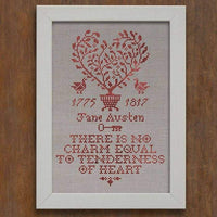 Tenderness of the Heart Jane Austen Sampler Cross Stitch Pattern - Digital Download
