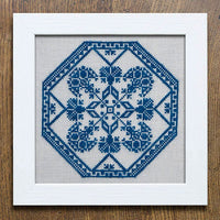 A Quaker Medallion Cross Stitch Pattern - Digital Download