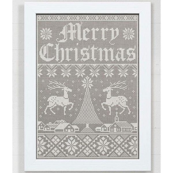 Christmas Town Holiday Sampler Cross Stitch Pattern - Digital Download