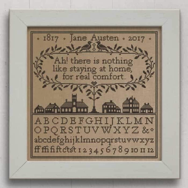 Real Comfort Jane Austen Sampler Cross Stitch Pattern - Digital Download