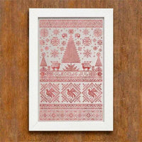 Scandinavian Christmas Sampler Cross Stitch Pattern - Digital Download